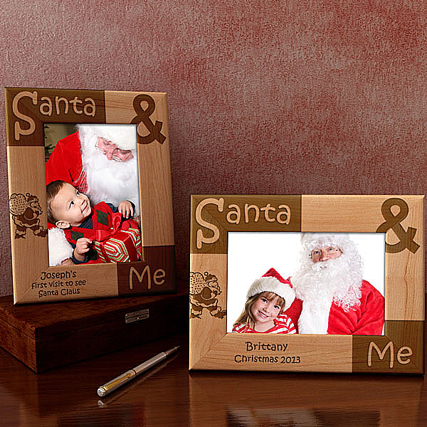 Santa & Me Wooden Picture Frame
