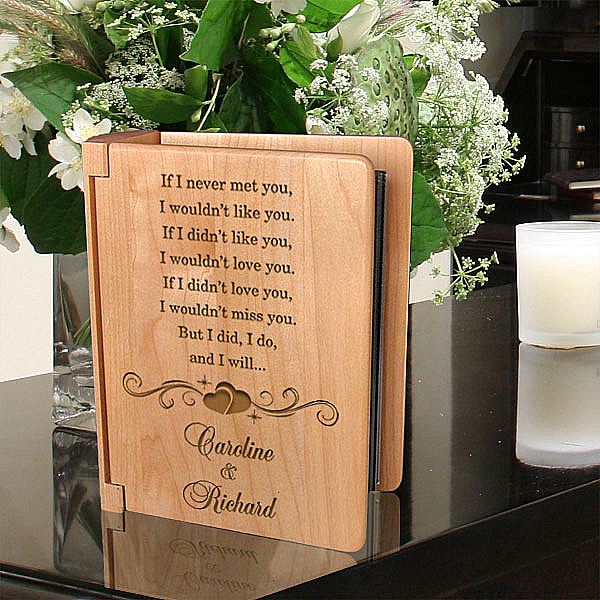 I Will Always Love You Wooden Photo Album