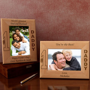 Number One Wooden Picture Frame