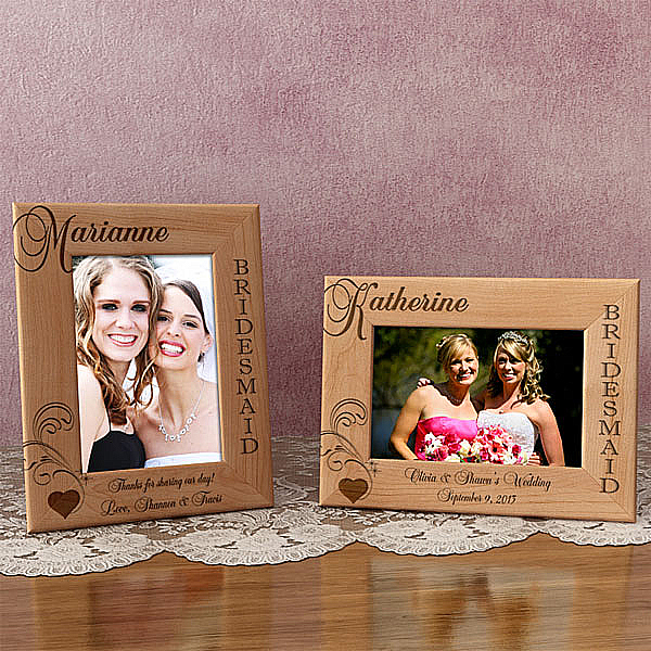Bridesmaid Wooden Picture Frame