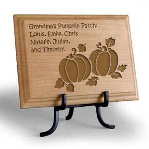 Pumpkin Patch Wooden Plaque