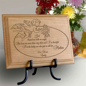 My Angel Mother Wooden Plaque