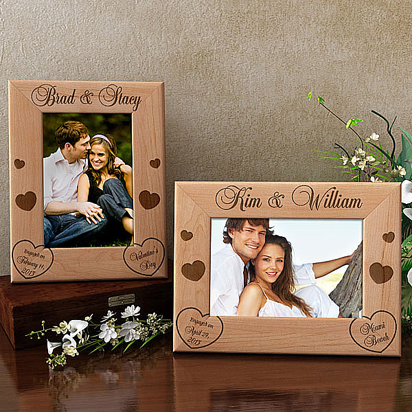 Engagement Wooden Picture Frame