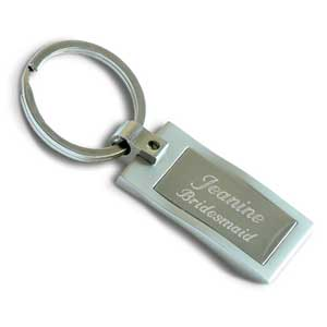 Satin Finish Key Chain
