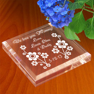 Playful Flowers Keepsake & Paperweight