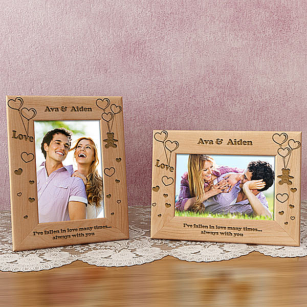 Loving Bear Wooden Picture Frame