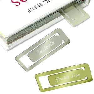 Rectangular Metal Bookmark