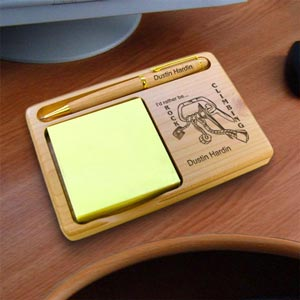 Rock Climbing Wooden Notepad & Pen Holder