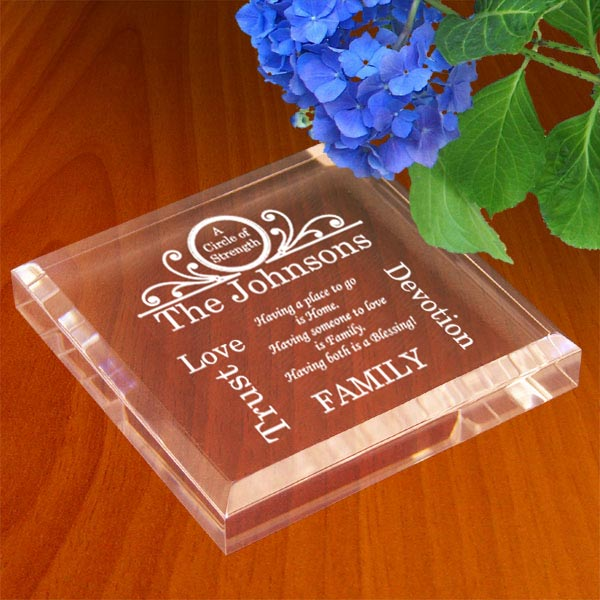 Family Circle of Strength Keepsake & Paperweight