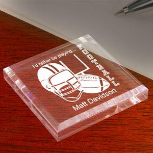 Football Keepsake & Paperweight