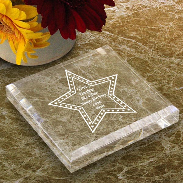 Star Keepsake & Paperweight