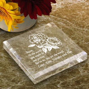 Flower Keepsake & Paperweight
