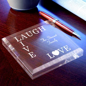 Live, Love, Laugh Keepsake & Paperweight