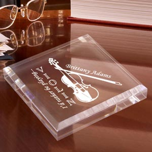 Violin Keepsake & Paperweight