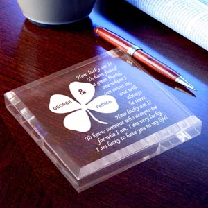 Lucky You and I Keepsake & Paperweight