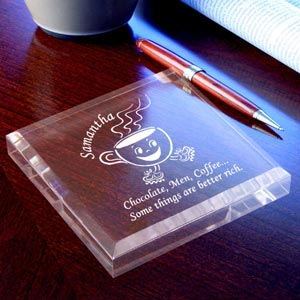 Coffee Cup Keepsake & Paperweight