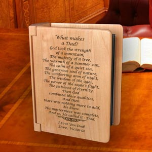 What Makes A Dad Wooden Photo Album