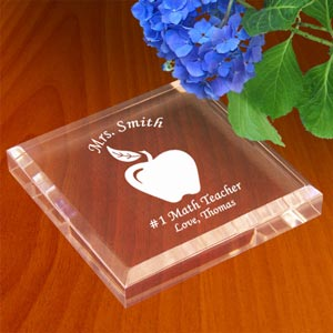 Teacher's Apple Keepsake & Paperweight