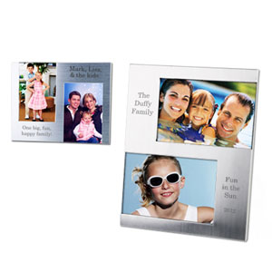 Silver Double Photo Frame
