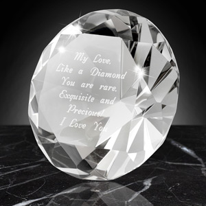 Crystal Diamond Keepsake and Paperweight