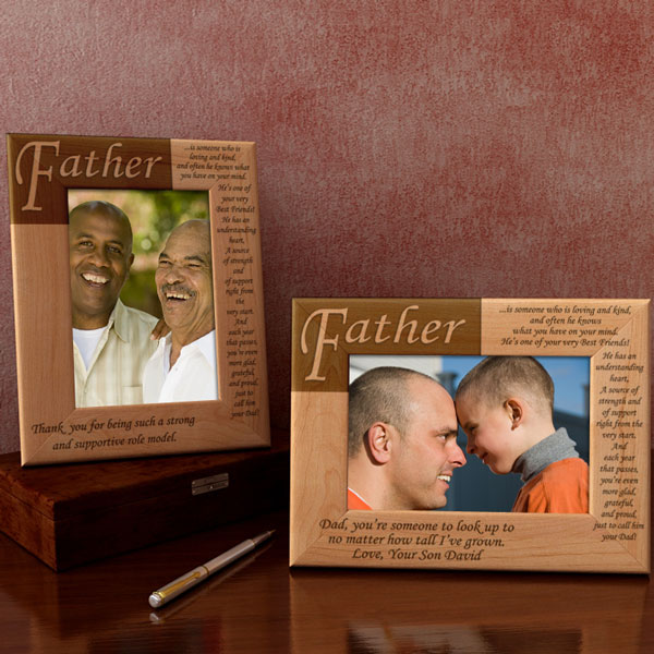 What it Means to be a Father Wooden Picture Frame