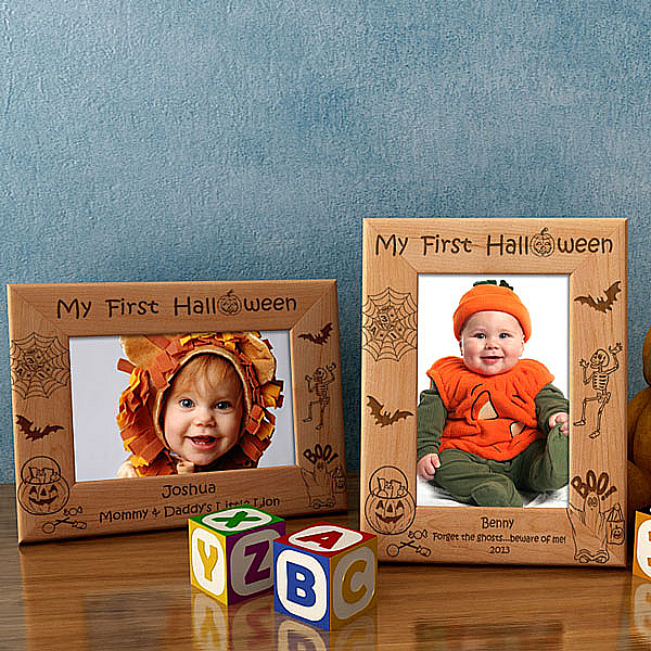 My First Halloween Wooden Picture Frame