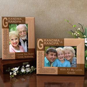 Grandma and Grandpa Poem Wooden Picture Frame