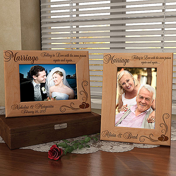 Our Marriage Wooden Picture Frame