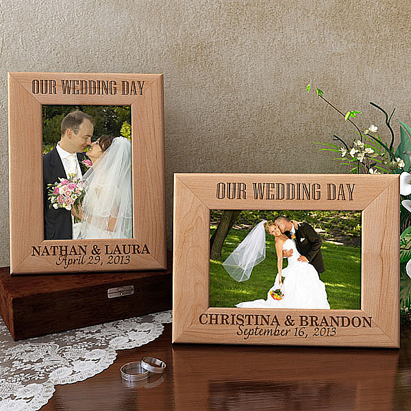 Our Wedding Day Wooden Picture Frame