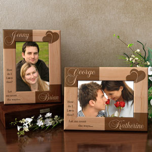 I Love Thee Wooden Picture Frame