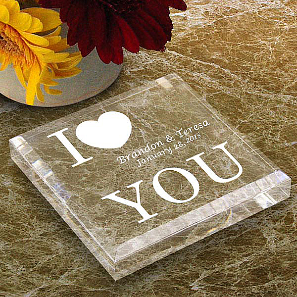 I Love You Keepsake & Paperweight