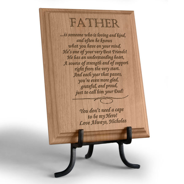 What it Means to be a Father Wooden Plaque