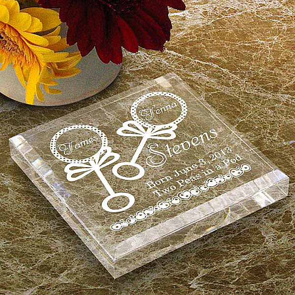 Our Twins Keepsake & Paperweight
