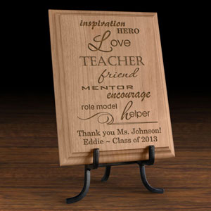 Teacher and Mentor Wooden Plaque