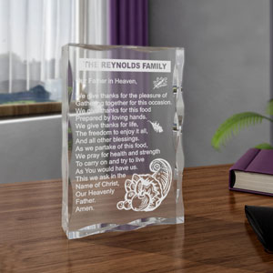 Thanksgiving Thank You Prayer Keepsake