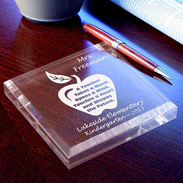 A Teacher Keepsake & Paperweight
