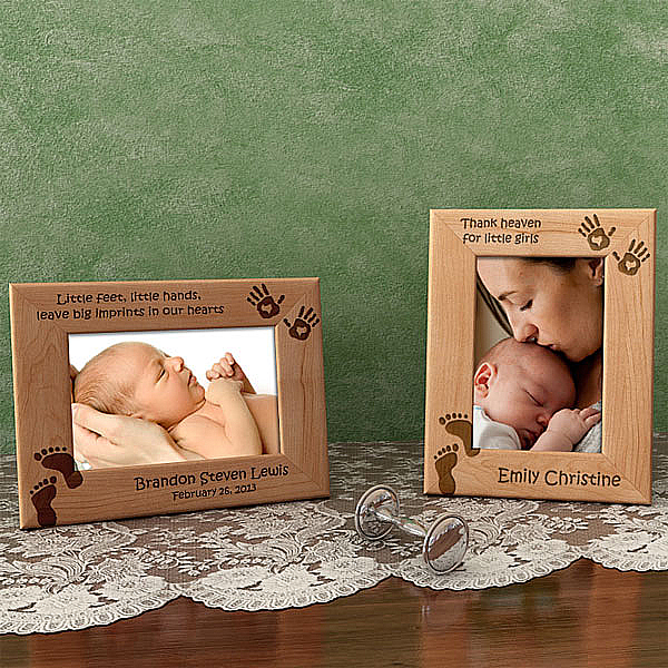 Little Feet, Little Hands Wooden Picture Frame