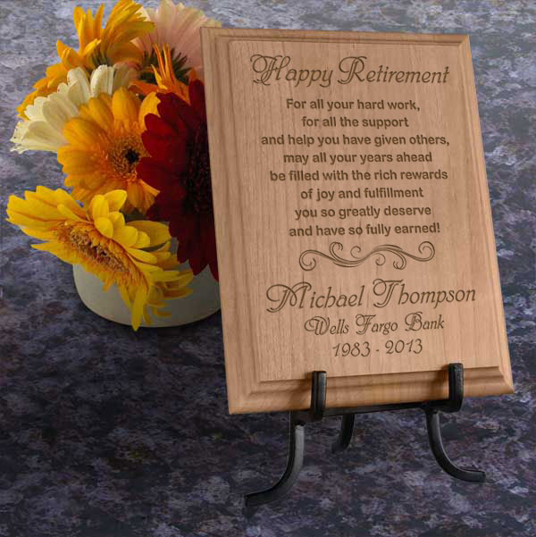 Happy Retirement Wooden Plaque