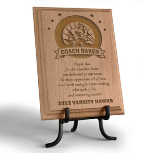 Wrestling Coach Wooden Plaque