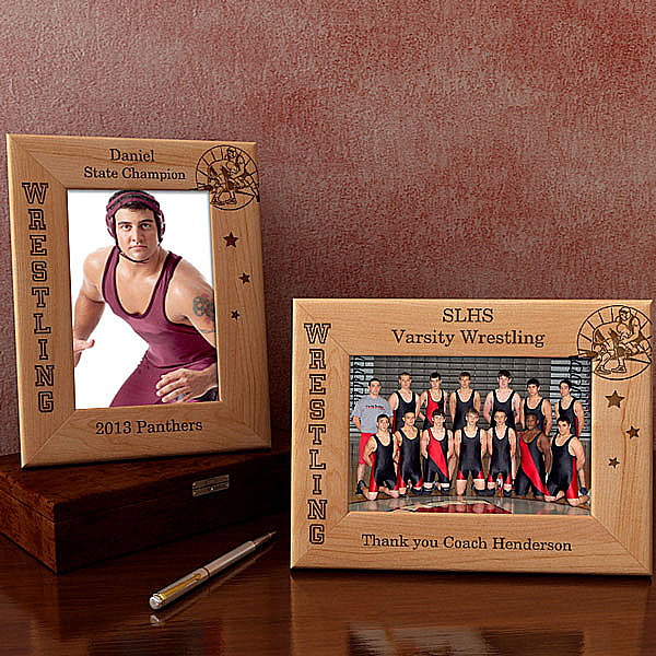 Wrestling Wooden Picture Frame