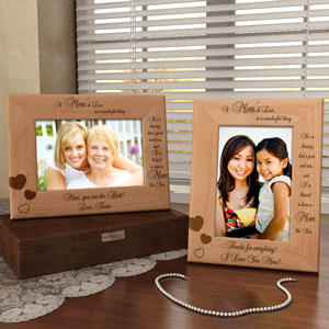 A Mom's Love Wooden Picture Frame