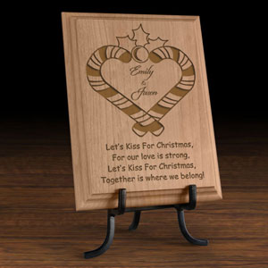 Our Mistletoe Wooden Plaque