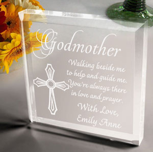 Godparents Keepsake & Paperweight