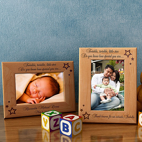 Twinkle, Twinkle Wooden Picture Frame