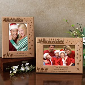 The Blessings of Christmas Wooden Picture Frame