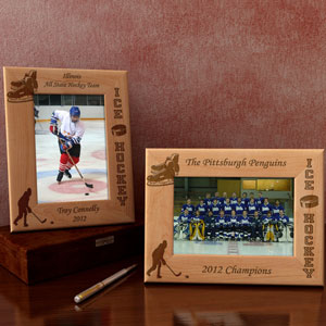 Hockey Wooden Picture Frame