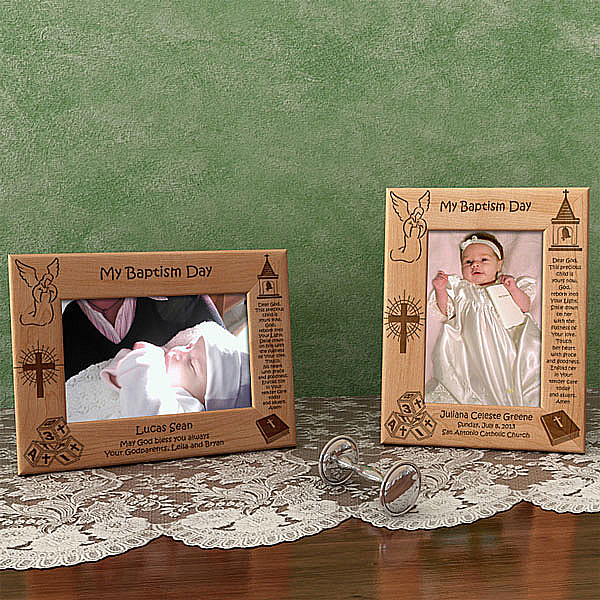 Baptism/Christening Day Wooden Picture Frame