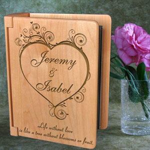 Blossoming Love Wooden Photo Album