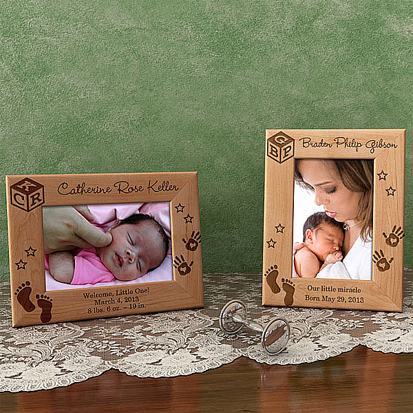 Baby's Monogram Wooden Picture Frame