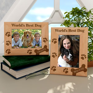 Doggie Bones Wooden Picture Frame